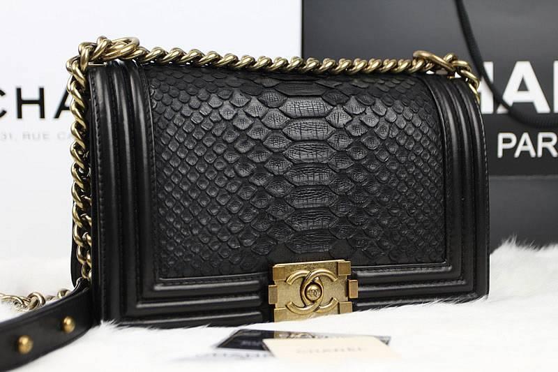81-chanel-le-boy-flap-shoulder-bag-67025-in-black-original-python-leather-with-gold-hardware-0