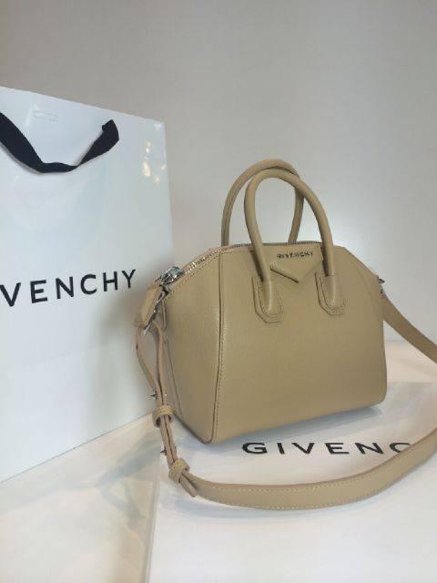 Givenchy-Antigona-Mini-Goat-With-Long-Strap-Beige
