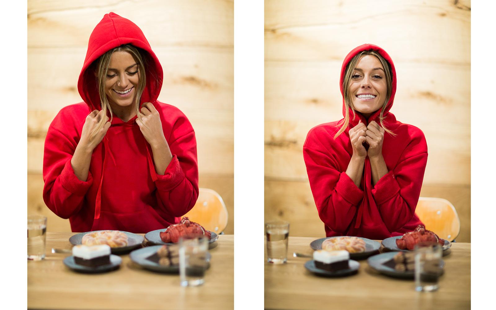bianca röd tröja